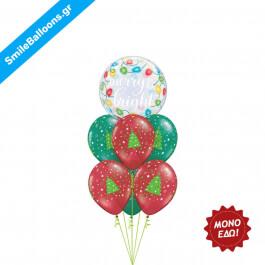 """Χριστούγεννα - Μπουκέτο μπαλονιών """"Merry Gift Giving"""" - Κωδικός: 9504022"""
