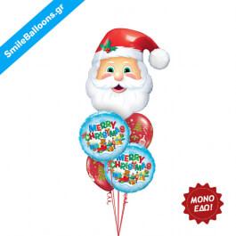 """Χριστούγεννα - Μπουκέτο μπαλονιών """"Merry Christmas Santa"""" - Κωδικός: 9504024"""