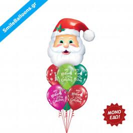 """Χριστούγεννα - Μπουκέτο μπαλονιών """"Holly Jolly Santa"""" - Κωδικός: 9504032"""
