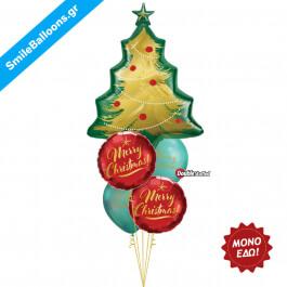 """Χριστούγεννα - Μπουκέτο μπαλονιών """"Christmastime Is Here"""" - Κωδικός: 9504042"""