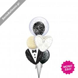"""Μπουκέτο μπαλονιών """"Gown Tux Bubble"""" - Κωδικός: 9522015 - SmileStore"""