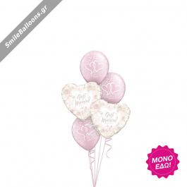 """Μπουκέτο μπαλονιών """"Pearl Pink Wedding"""" - Κωδικός: 9522036 - SmileStore"""