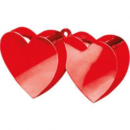Διακοσμητική βάση για μπαλόνια - Διπλές Καρδιές κόκκινο - Κωδικός: A11711 - Anagram