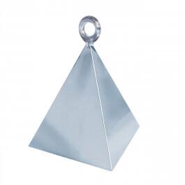 Διακοσμητική βάση πυραμίδα για μπαλόνια - Ασημί - Κωδικός: 14420 - Anagram